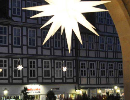 Duderstadt leuchtet – Herrnhuter Sterne in unserer Innenstadt