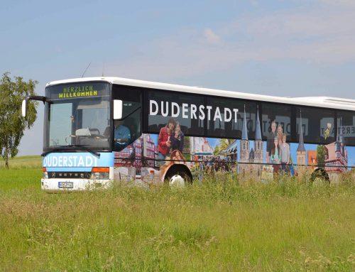 Linienbus mit Duderstadt Motiv