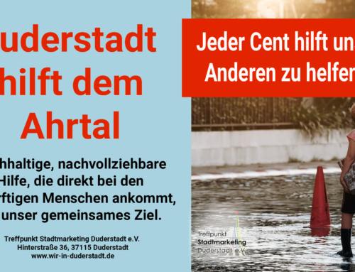 Duderstadt hilft dem Ahrtal – Gemeinsam sind wir stark